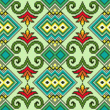 Geometrical and Floral Seamless Pattern