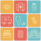 Vector Medical Icons Set