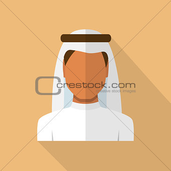 Arabic man in traditional muslim hat