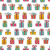 Gift boxes seamless background