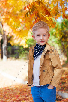 boy at fall time