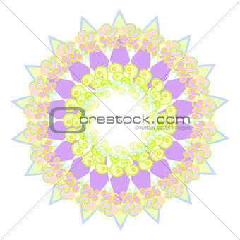 circular pattern on a white background. vector illustratoration