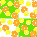 pattern with slice citruses - lemon and orange