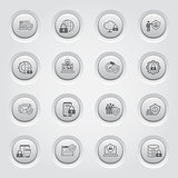 Flat Design Protection and Security Icons Set