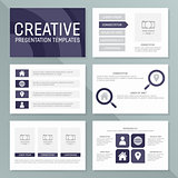 Vector business presentation template set. Infographic elements template design