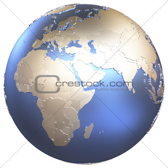 Africa on metallic Earth