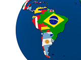 Political south America map