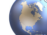 North America on metallic Earth