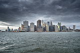 Manhattan skyline.