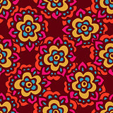Seamless cute doodle Vector floral pattern