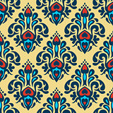 colorful damask floral seamless pattern