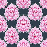 Seamless vector geometric pattern damask