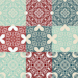 set of Seamless vintage  ornametal pattern.
