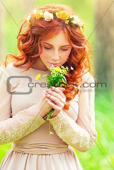 Beautiful romantic girl