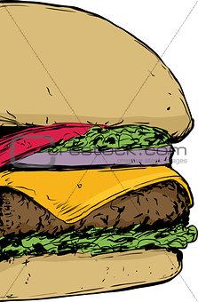 Close up on Cheeseburger