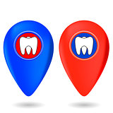 Dentist Red Blue Markers