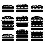 Set of Different Hamburger Icons