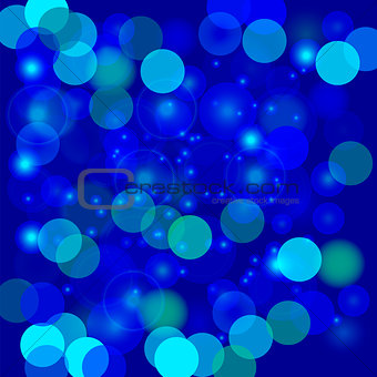 Abstract Blue Light Pattern.