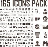 165 icons set