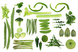 Green Vegetable Food Selection