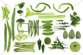 Green Vegetable Food Selection