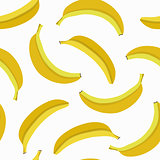 Seamless background with yellow bananas.
