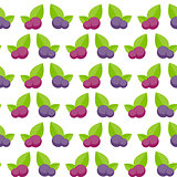 Blueberry Flat Seamless Pattern Background Icon Vector Illustrat