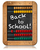 Back to School - Abacus and Blackboard