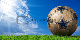 Football - Soccer Ball with Green Grass