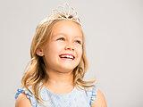 Cute little princess laughing