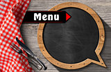 Menu - Blackboard Speech Bubble Shaped