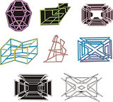geometrical decorative 3D figures and mazes