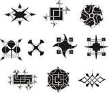 symmetrical geometrical decorative elements
