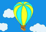 Aerostat baloon isometric flat vector