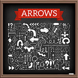 Hand drawn arrow icons set