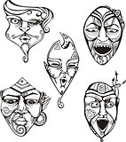 Carnival Male Masks Set