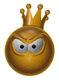 evil king smiley - 3d illustration