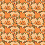 seamless pattern with fox. vector