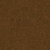 Thin Ecology Environment Line Seamless Brown Pattern