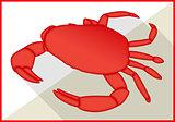 Crab  isometric flat vector 3d