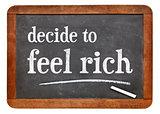 decide to feel rich - blackboard