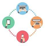 Social media network concept