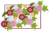 Typographical Background with flowers. EPS10 vector illustration.