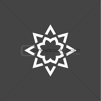 Abstract star logo modern linear style icon