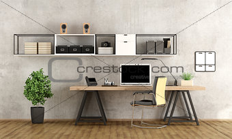 3d rendering of a modern workspace