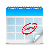 Deadline Word on Calendar