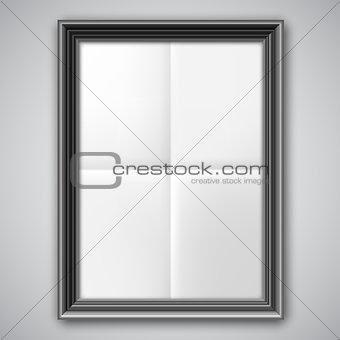 Folded Paper in Black Frame