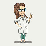 Vector cartoon nurse character