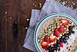Oatmeal and Fruit Breakfast