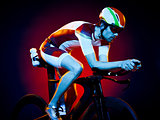 man cyclist cycling bicycle triathlon isolated